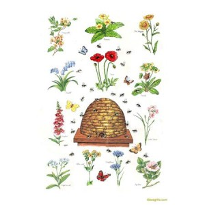 127289 300x300 SKEP and Flowers Tea Towel