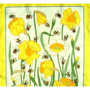 127293 300x300 Bees and Daffs Tea Towel