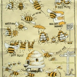 127294 300x300 Comic Bee Tea Towel