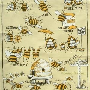 127294 300x300 Comic Bee Tea Towel
