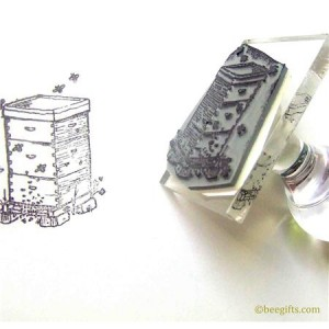 127335 300x300 Box Beehive Rubber Stamp
