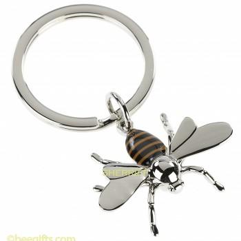 BEE KEY USE RING BROWN STRIPED & CHROME.watermarkedUSE JPG