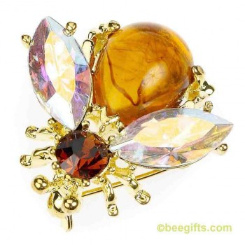 AMBER BEE BROOCH.watered JPG USE USE