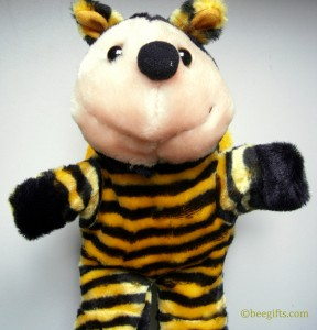 STRIPEY PUPPET FRONT VIEW watermarked use 288x300 Bee Hand Puppet