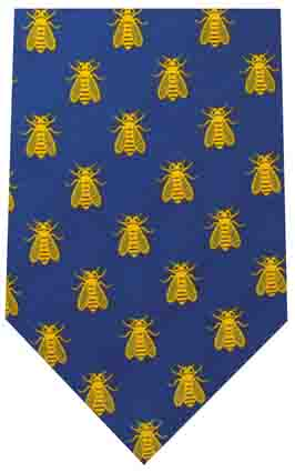179 Imperial bee LR Blue tie copy Blue Regal Bee Tie