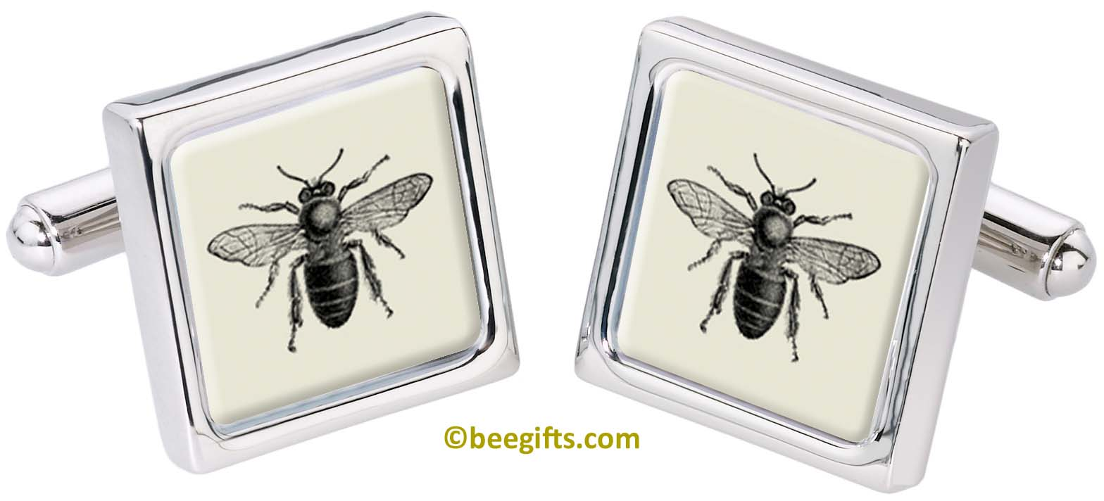 2901 Bee (2) CUFFLINKS from Fox and Chave copy