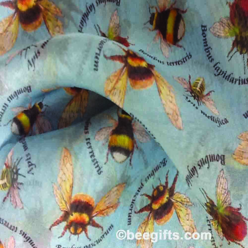 Bee scarf crumpled copy