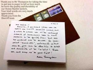 Testimonial from Mr Thompson , USA 16 September 2014