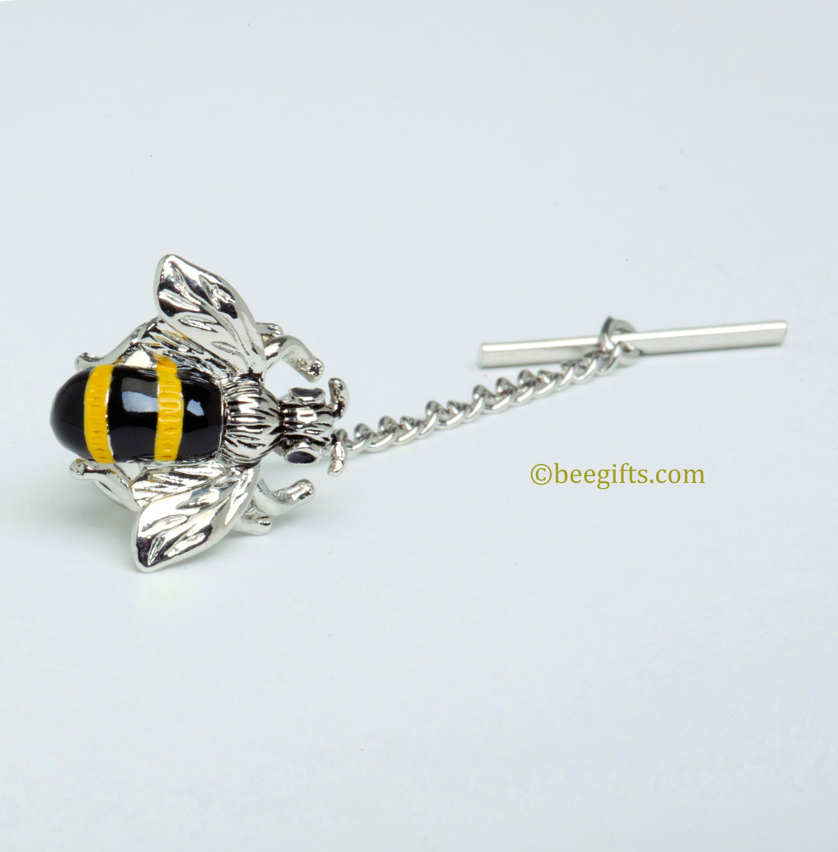 t-1376 (2) Bee Tie Tack