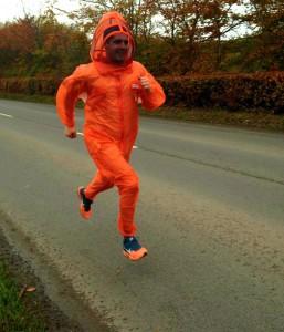 Ian Wallace from Quince Honey Farm wearing BJ Sherriff beekeeping suit