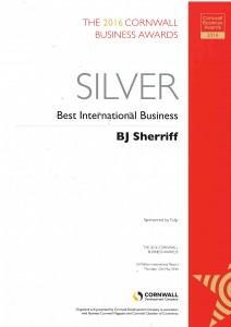 Silver at Cornwall Business Awards