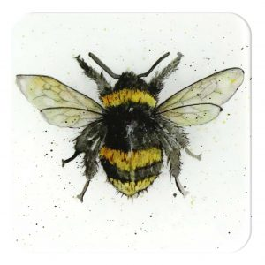 Bumble-Bee-300x300 Single Bee Coaster - glass